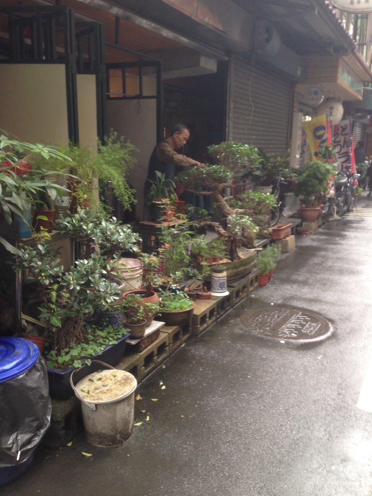 Un marchand dans les rues de Taipei